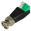 Разъем под коаксиальный кабель вилка BNC универсальный (штекер), клеммная колодка, самозажим