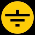 """Самоклеящаяся этикетка 30х30мм символ """"Заземление"""" IEK"""