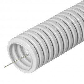 Труба гофрированная 40мм ПВХ с зондом легкого типа ИЭК (15м)