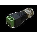 Разъем под коаксиальный кабель вилка BNC универсальный (штекер), клеммная колодка, под винт