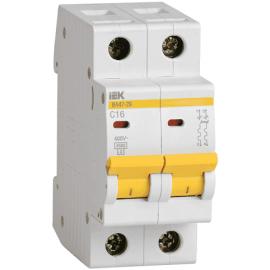 Автоматический выключатель ИЭК двухполюсный ВА47-29 2Р 5А 4,5кА (хар.С)