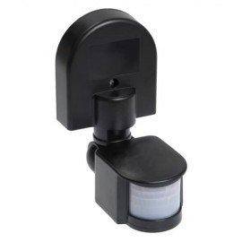 Датчик движения ИЭК ДД-008 1100Вт угол обзора 180 градусов IP44 черный