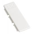 Соединитель на стык лицевой для крышки 60мм ИЭК серии Праймер цвет Белый