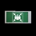"""Ирида-Гефест """"Место сбора"""", мигающий, трафаретный (Т–Е21–Бел/Зел–2х5-миг) Оповещатель охранно-пожарный световой Ирида-Гефест """"Место сбора"""", мигающий, трафаретный (Т–Е21–Бел/Зел–2х5-миг) Гефест"""