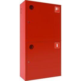 Ш-ПК-003-21НЗК (ПК-320-21НЗК) лев. Шкаф пожарный навесной закрытый красный ТОИР-М