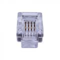 Телефонный разъем RJ-12 (6P4C) Коннекторы 4P4C (RJ-11) (100шт) (10-0229)