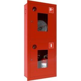Ш-ПК О-003ВОК (ПК-320ВОК) лев. Шкаф пожарный встроенный со стеклом красный ТОИР-М