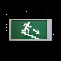 """Ирида-Гефест """"Выход по лестнице вниз"""", трафаретный (Т-Е13-Бел/Зел-2х5) Оповещатель охранно-пожарный световой Ирида-Гефест """"Выход по лестнице вниз"""", трафаретный (Т-Е13-Бел/Зел-2х5) Гефест"""