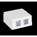 Корпус настенной розетки EC-UWO-2KJ-WT-10