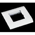 EC-FPM-1-WT-10 Лицевая панель под 1 вставку Mosaic, 45x45, с подрамником NETLAN