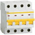 Автоматический выключатель ИЭК четырехполюсный ВА47-29 4Р 1А 4,5кА (хар.С)
