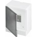 Бокс настенный ABB Basic E 4М серая прозрачная дверь (с клеммами) BEW402204