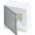 Бокс настенный ABB Basic E 6М серая прозрачная дверь (с клеммами) BEW402206
