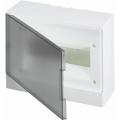 Бокс настенный ABB Basic E 12М серая прозрачная дверь (с клеммами) BEW402212