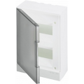 Бокс настенный ABB Basic E 16М серая прозрачная дверь (с клеммами) BEW402216