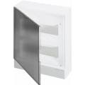 Бокс настенный ABB Basic E 24М серая прозрачная дверь (с клеммами) BEW402224