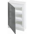 Бокс настенный ABB Basic E 36М серая прозрачная дверь (с клеммами) BEW402236