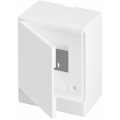 Бокс настенный ABB Basic E 4М белая непрозрачная дверь (с клеммами) BEW401204