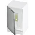 Бокс настенный ABB Basic E 2М серая прозрачная дверь (без клемм) BEW402202