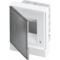 Бокс в нишу ABB Basic E 4М серая прозрачная дверь (c клеммами) BEF402204