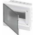 Бокс в нишу ABB Basic E 8М серая прозрачная дверь (c клеммами) BEF402208