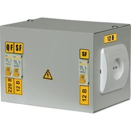Ящик с понижающим трансформатором ЯТП-0,25 230/12-2 36 УХЛ4 IP30 IEK