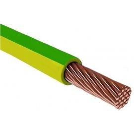 Провод установочный ПВ-3 (ПуГВ) 1х6 желто-зеленый (ГОСТ 31947)
