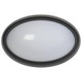 Светильник светодиодный ДПО 3021 8Вт 4500K IP54 овал пластик черный IEK