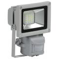 Прожектор светодиодный СДО 05-10Д(детектор)светодиодный серый SMD IP44 IEK