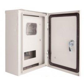Щит металлический учетно-распределительный наружный ЩРУ 3н-6 IP54 350х250х135мм окно внутри