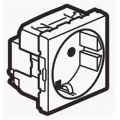 Legrand Mosaic 077213 Модуль розетки 2К+3 с защитными шторками, на винтах, белый,