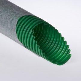 Труба дренажная одностенная ПНД 125/110мм с фильтром из геотекстиля Рувинил