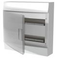 Бокс настенный ABB Mistral41 36М (2x18) прозрачная дверь с клеммным блоком