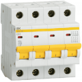 Автоматические выключатели четырехполюсные IEK ВА47-29