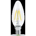 Лампы филаментные светодиодные LED свеча, с цоколем Е14, E27